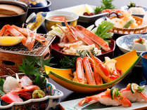 ~5大カニ料理の蟹尽くし会席~リーズナブルに蟹を楽しめる人気会席。焼・茹・握り・揚・鍋とお楽しみ。