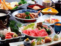 ~鳥取県産牛の旨しゃぶ会席~地元牛肉をしゃぶしゃぶでさっぱりと頂けます。さらにののこ飯などの名物も!