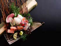 ~お造り盛り~海の幸豊富な境港の近い皆生温泉だからできる新鮮さ。日によっては朝獲れ鮮魚をご提供。