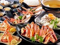 竹野名物「かにすき鍋」がメイン かにすきコース