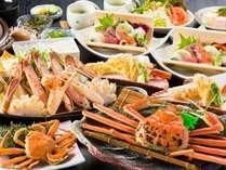 【NEW】12月限定「夫婦がにコース」 茹で蟹には地元産「松葉がにとセコがに」を使用