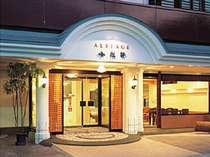 アルステージ小松軒玄関。日田駅から徒歩約7分で、アクセスも便利です