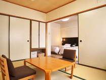 【和洋室の一例】全室バストイレ付のお部屋でゆったりとお過ごしください。