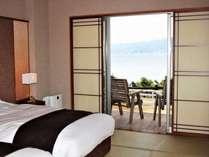 碧い海和室10畳ツインベッドルーム