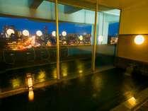 浜松市が一望できる、男女別大浴場。手足を伸ばしてゆっくりとお過ごしください。