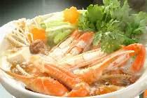 カニちり鍋・自家製ポン酢でどうぞ♪お出汁がよく出たカニ雑炊もご堪能ください