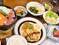 サラダとご飯はセルフスタイル(一例)