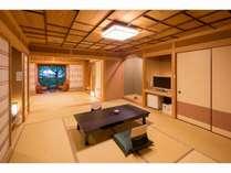 【さくら】12畳+8畳で専用露天風呂付特別室です