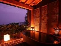 漁火を望む客室露天風呂
