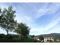 高原にある宿舎
