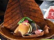 竹の子朴葉焼き