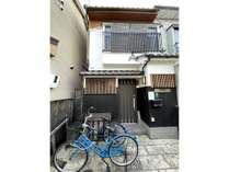 当施設外観自転車2台お使いください。
