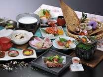 旬の食材の他、牛肉、桜鯛、ロブスターなど、匠の技をご堪能あれ♪『湯田の匠プラン』