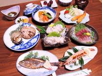 *【あわび付夕食一例】あわびをメインに旬の魚介類をふんだんに使ったお料理