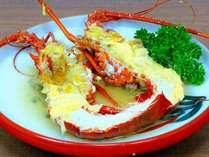 伊勢海老具足煮は刺身と違い食べ応え食感ともにお子様に人気。