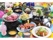 春~夏 【塩の道会席】食材を知り尽くした料理人が腕を振るった会席料理です
