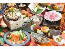 【秋季】塩の道会席 秋の味覚をふんだんに使用した会席料理です。是非ご賞味下さいませ。