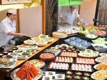 天ぷら・肉料理はアツアツをお召し上がりください
