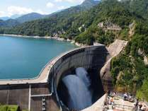 大迫力の黒部ダム観光放水は10月15日まで開催中☆