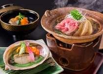 特選会席 相田料理長自ら厳選した食材を調理し、心をこめておもてなし。
