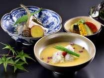 京の夏の旬の食材を使ったお料理の数々…
