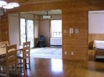 C棟の室内例:和室とベッドルーム、ダイニングキッチンがあるよ