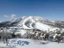 斑尾高原スキー場の全景。共通券は山の裏側まで滑れるから滑走エリアが広い!