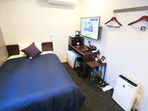 ◆シングルルーム◆ベッド幅120×195 全室空気清浄機・電子レンジ・湯沸かしケトル・ドライヤーを導入♪