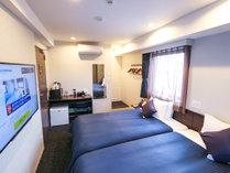◆ツインルーム◆全室スランバーランドベッドを完備しております。