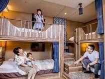 ■客室:デラックススカイ・4ベッド/2段ベッド2台で最大5名様までご宿泊できます♪