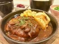 夕食プランの一例(1)デミソースハンバーグ♪