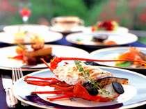 素材には海の幸はもちろん、山の幸もふんだんに使用♪☆リバージュお料理イメージ
