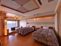 *スカイビュー(客室一例)/竹島を望む半露天風呂付のお部屋。特別な日にぜひご利用下さい。