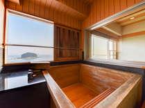 *【スカイビュー展望風呂付客室】展望風呂が付いた人気の客室。20平米の洋室+4.5畳和室の和洋室です。