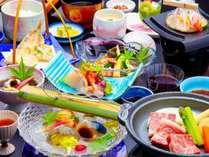 【リーズナブルに夏の蒲郡を愉しむ】三河の海鮮や国産牛料理など味わえて3名一室1万円~♪八百富御膳