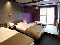 紫の間(スタンダード和洋室)加賀五彩の『古代紫(紫色)』をモチーフにしたお部屋です