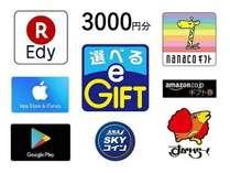 ★マルチギフトカード  選べるe-GIFT 3,000円付 素泊まり