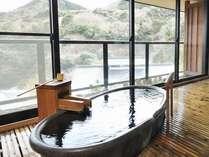 【ピグマリオン】スタンダード和室の客室露天風呂一例