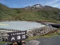 ◆【雪秩父温泉】大湯沼の温泉をひいた濃厚な硫黄泉