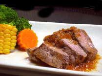 広島県産の黒毛和牛を使用したステーキ