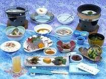 *【ご朝食一例】そばの実のお粥や、キジの生卵など珍しい食材をお楽しみ頂けます。