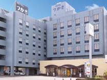 国道9号線に面した利便性の高いビジネスホテル/外観例