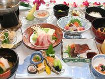 12月~2月■「四季会席」鰤しゃぶしゃぶ、すっぽん茶碗蒸し、河豚の唐揚げなど
