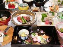 3月~5月■「四季会席」桜海老かき揚げ、甘鯛桜蒸し、牛肉陶板焼きなど
