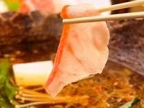 【お食事処;海つばき】金目鯛をしゃぶしゃぶで♪