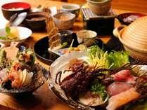 【食事処:海つばき】伊勢海老や金目鯛等の魚貝類の海鮮しゃぶしゃぶに舌鼓