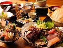 夕食 海鮮しゃぶしゃぶをメインとした和食会席