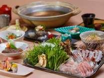 【ご夕食メイン】海の幸をふんだんに使用した「海鮮しゃぶしゃぶ」