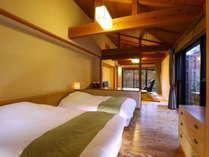【別邸山の音】敷地内の高台に位置するお部屋タイプで和モダンな内装が特徴。