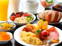 【バイキング朝食】営業時間⇒7:00~9:30 料金⇒1名:1,300円 小学生:650円 幼児無料